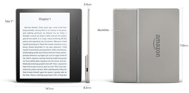 Kindle Oasis: Maior e com melhor acabamento que o modelo anterior
