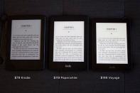 Com 4 gigas, é possível armazenar quase dois mil livros nos Kindle