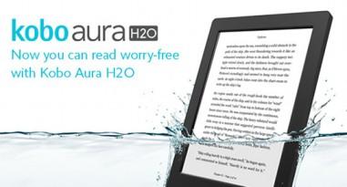 Kobo Aura H2O em anúncio americano