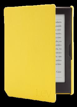 A capa original tem um acabamento razoável, é mais barata que a do Kindle, mas não é inteligente.