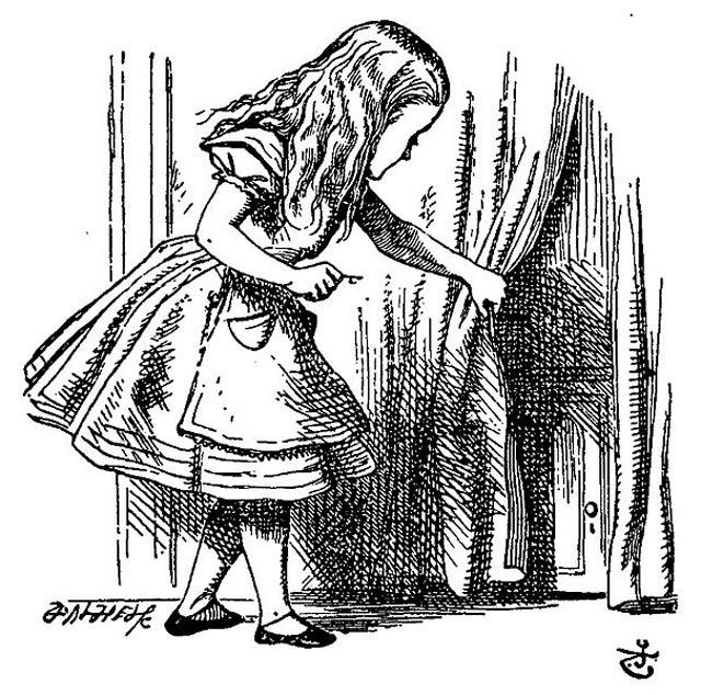 desenho-alice-pais-maravilhas-john-tenniel-primeira-edicao-livro